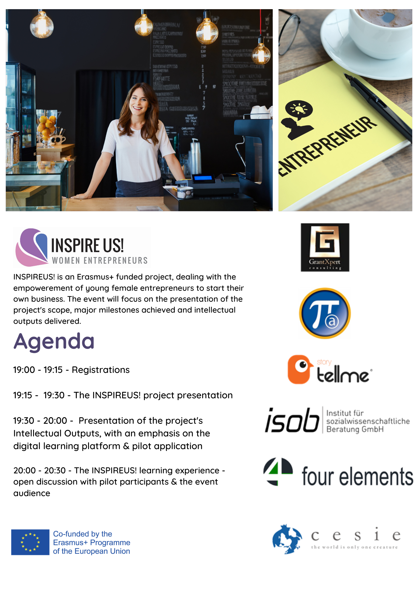 "INSPIREUS! ""WOMEN ENTREPRENEURS"": FINAL DISSEMINATION EVENT / ΤΕΛΙΚΗ ΕΚΔΗΛΩΣΗ"